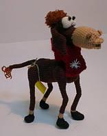 Детская Игрушка Лошадь вязаная крючком