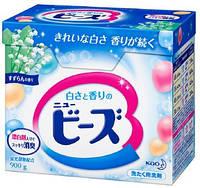 KAO New  Beads Концентрированный стиральный порошок  для светлых тканей  с ароматом ландыша 850 г