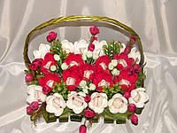 "Букет из конфет.крокусы с raffaello""Фламинго"" №21"