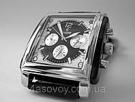 Механические часы РЕКОРД classic, механика с автозаводом, цвет корпуса серебристый, мужской стиль
