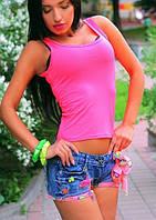 Майка розовая женская стильная