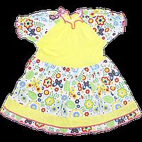 Платье с коротким рукавом р. 86, тонкий хлопок, ТМ Ромашка