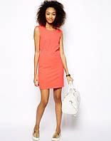 Платье летнее свободного кроя красивого кораллового цвета