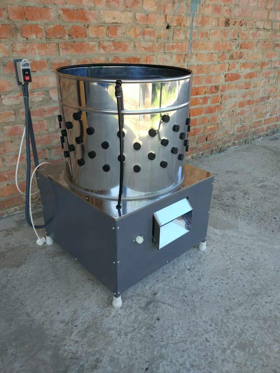Перосъёмная машина для бройлеров своими руками