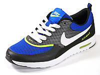 Кроссовки летние унисекс текстиль синие/серые подросток Nike Air Max, фото 1