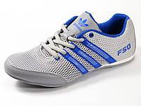 Кроссовки летние унисекс текстиль серые подросток спортивные шнурок Adidas, фото 1