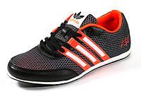 Кроссовки летние унисекс текстиль серые/красные подросток спортивные шнурок Adidas, фото 1