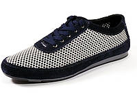 Серые/синие мужские спортивные туфли сетка летние шнурок GS-комфорт, фото 1