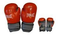 Перчатки боксерские Кожа ELAST MA-4006E-10 (наполнитель-пенополиуретан, р-р 10oz, красный, синий)