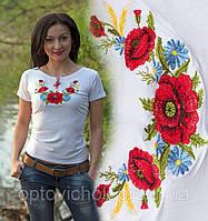 """Вышитая футболка в Украинском стиле """"Маки 3"""""""