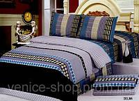 Стильное семейное постельное белье в полоску
