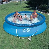Intex 28132 (366х76 см.) + насос. Надувные бассейны Intex Easy Set Pool