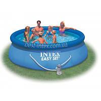 Intex 28146 (366х91 см.) + насос. Надувной бассейн Easy Set Pool