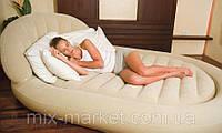 Надувная двуспальная кровать с подголовником Bestway 67397