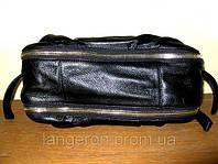 Сумка кожаная натуральная кожа из натуральной кожи с молниями на ручке кольца