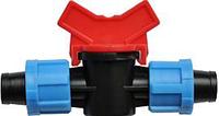 Кран стартовый зажимной для пластиковой трубы Dn17/КС3 17*17