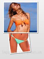 Оранжево-бирюзовый купальник Victoria's Secret
