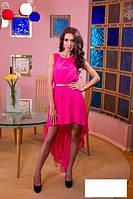 Платье хит лето 2015 розовое нарядное свободного кроя