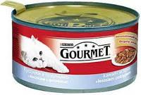 Gourmet (курица и почки) кусочки в паштете 195 г* 24шт- консервированный корм для взрослых кошек
