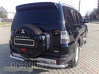 Защита задняя Mitsubishi Pajero Wagon угловая одинарная