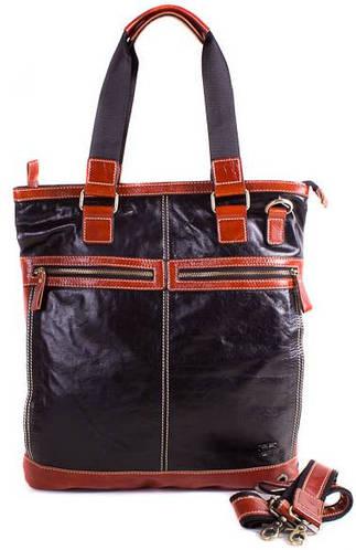 Качественная мужская кожаная сумка Eterno E2572 черный