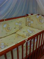 Охранка (бортики) в детскую кроватку №43