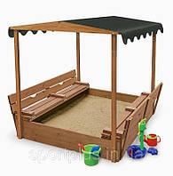 Песочница 4 детская с навесом SportBaby №4