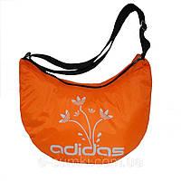 Спортивная женская сумка маленькая, ярко-оранжевая 34х28х18 см