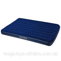 intex надувная кровать флокированная роял 68950: