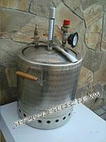 Автоклав из толстой нержавейки на 16 литровых банок