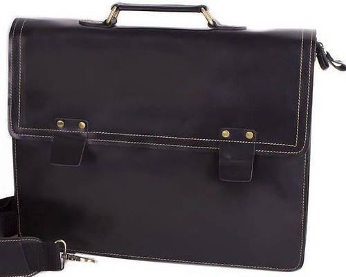 Деловой портфель мужской кожаный Eterno E9364 черный