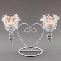 Свадебный подсвечник  для 2-х свечей