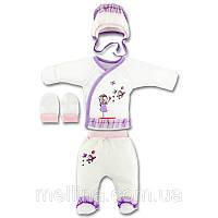 Комплект для новорожденной девочки. Размер на рост 62см