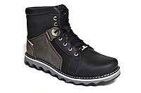 """Мужские кожаные ботинки """"Max Mayar"""". Черные"""