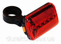 Велосипедный задний фонарь 5 Led 8 функций JY-380