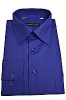 """Рубашка мужская """"Senior Cardin"""". Синяя. Длинный рукав"""
