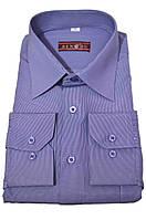 """Рубашка мужская """"Bendu"""". Синяя клетка. Длинный рукав"""