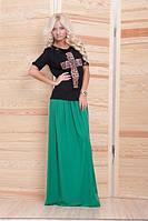 Трикотажная юбка в пол, фото 1