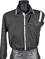 """Рубашка мужская """"Pierre Martin"""". Черная(длинный рукав)"""