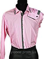 """Рубашка мужская """"Pierre Martin"""". Розовая(длинный рукав)"""
