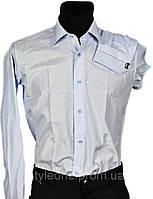 """Рубашка мужская """"Pierre Martin"""". Голубая(длинный рукав)"""