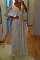 Гипюровое платье в пол на запах