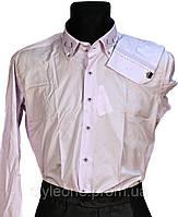 """Рубашка мужская """"Pierre Martin"""". Сиреневая(длинный рукав)"""