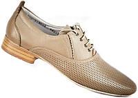 """Летние туфли мужские """"Max Mayar"""". Натуральная кожа. Коричневые"""