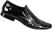"""Лаковые мужские туфли """"Mida"""". Черные. Натуральная кожа"""