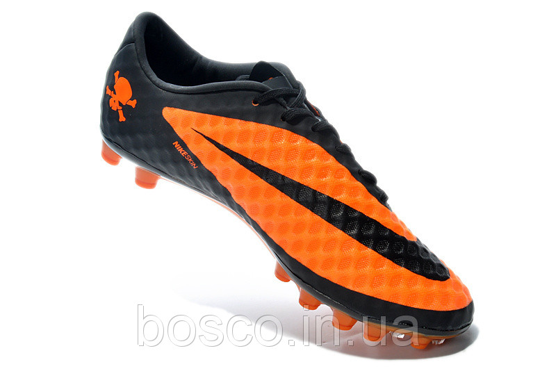 Футбольные бутсы Nike HyperVenom Phantom AG Orange/Black