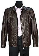 Куртка мужская демисезонная. Коричневая. Эко-кожа
