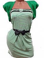 Женские платья-мини с болеро (зеленый 44)