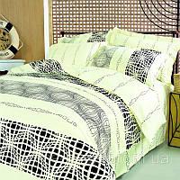 Светлое постельное белье теп абстракция