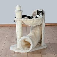 """Когтеточилка с гамаком и тоннелем """"Ганди"""" для кота, 68см, кремовый"""